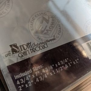 Sunday International Office - ACRYLIC STAMPING BLOCKS- Crafts, Cards, Scrapbooks